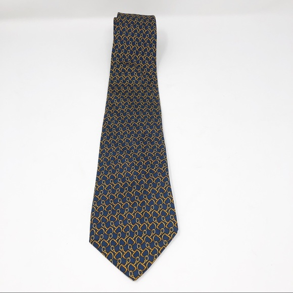 Brooks Brothers Other - NWT Brooks Brothers Makers Horsebit Silk Tie Blue